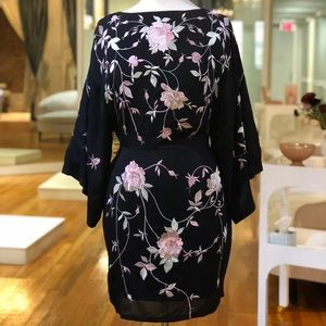 Black backless and floral dress